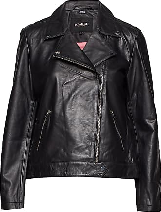 Soaked In Luxury Maeve Leather Jacket Ls Läderjacka Skinnjacka Svart Soaked In Luxury