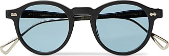 Moscot Miltzen-tt Round-frame Matte-acetate And Gold-tone Sunglasses - Black