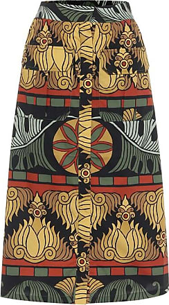Johanna Ortiz Cross Roads cotton midi skirt