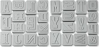 Fred Perry LETTER PRESSED Type-Style Cookie Cutter/Stampers, Set of 28