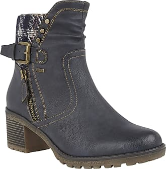 Lotus Relife Navy Ruthie Heeled Ankle Boots 41