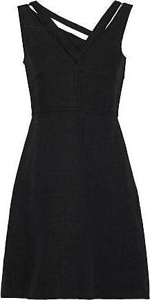 e442bfd88b5c Valentino Valentino Woman Cutout Linen Mini Dress Black Size 40