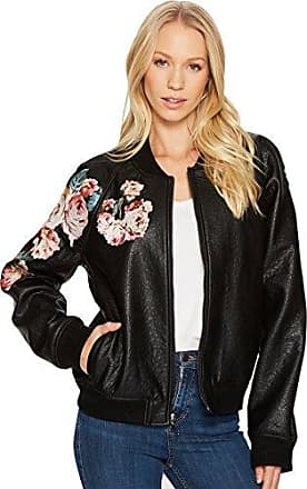 Joe's Womens Pu Bomber Jacket, Black cat, XS