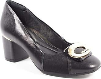 Comfortflex Sapato Feminino Em Couro Preto Comfortflex 39