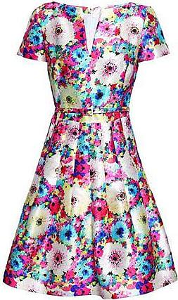 924858b69b49 Oscar De La Renta Oscar De La Renta Woman Flared Floral-print Silk And  Cotton