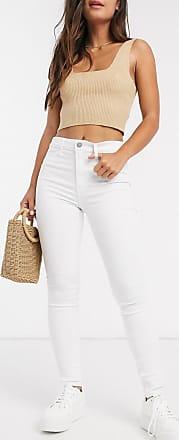 Hollister high rise straight leg jeans-White