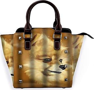Browncin Pomeranian Animal Art Cute Pet Dog Detachable Fashion Trend Ladies Handbag Shoulder Bag Messenger Bags