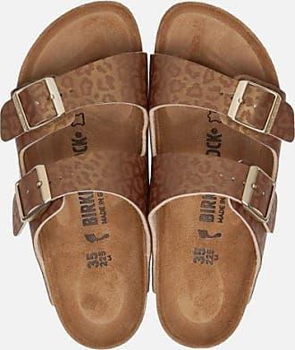 Birkenstock Arizona Leopard slippers goud