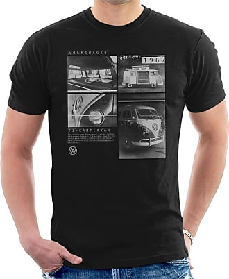 Volkswagen T1 Campervan 1967 Shots Mens T-Shirt Black