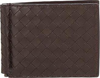 Bottega Veneta Intrecciato Bi-fold Leather Wallet - Mens - Brown