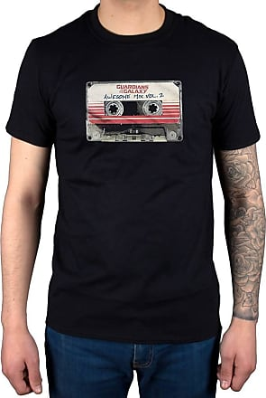 AWDIP Official Guardians of The Galaxy Awesome Mix Volume 2 T-Shirt Black