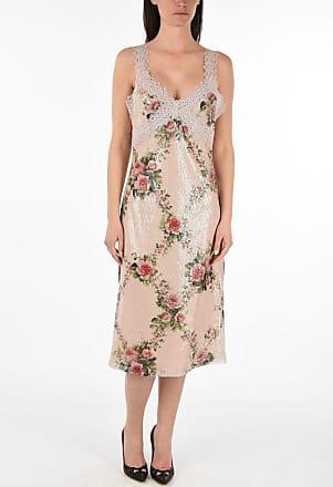 Blumarine floral-print sequined sheath dress Größe 42