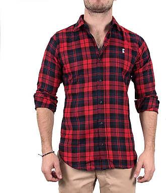 Sergio K. Camisa Xadrez Madras Vermelho
