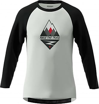 Zimtstern Pureflowz Shirt 3/4 Maglietta da ciclismo Uomo   grigio/nero