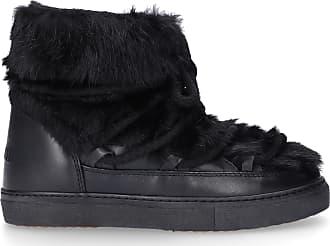 INUIKII Snowboots Sneaker Rabbit lamb fur rabbit fur Fur upper black