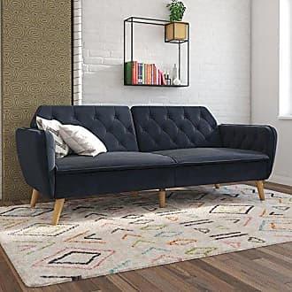 Dorel Home Products Novogratz Tallulah Memory Foam Futon, Blue Velvet