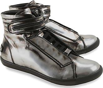 Karl Lagerfeld Sneaker für Damen, Tennisschuh, Turnschuh Günstig im Sale,  Silber, Leder 4582626fa7