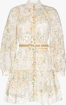 Zimmermann Amelie Kleid mit Lochstickerei - Weiß