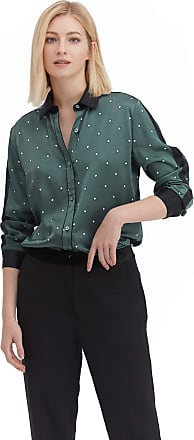 LilySilk Silk Floral Shirts for Women Blouse Basic Ladies Casual Soft Pure Silk Chic Contrast Color Tops Square-Pattern XS