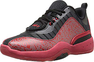 AND1 Mens Vertical Basketball Shoe, Red/Black/White, 14 M US