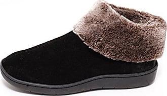 Damen Leder Winter HausSchuhe Pantoffeln mit Schafwolle gefüttert rot 36-41 NEU