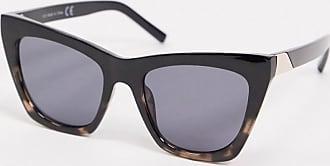 Topshop oversized square sunglasses in black-Multi