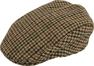 Dents Mens Abraham Moon Yorkshire Tweed Flat Cap - Brown - Extra Large
