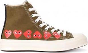 Comme Des Garçons Khaki Mehrere Herzen Chuck Taylor Hi Top Sneakers - 12