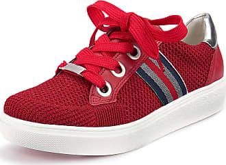 5df76c8c9cd Ara Sneakers i äkta läder från ARA röd
