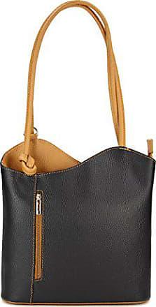 7220a40c2d7fe Belli ital. Ledertasche Backpack 2in1 Rucksack Handtasche Schultertasche -  Freie Farbwahl - 28x28x8 cm (