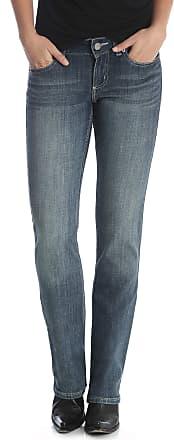 Wrangler womensWestern Mid Rise Stretch Straight Leg Jean Jeans - Blue - 5 x 32L