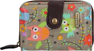Swankyswans Classic Tree Owl Animal Print Bi-fold Wallet Grey