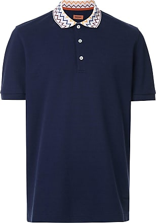 Missoni Camisa polo com colarinho estampado - Azul