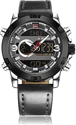 NAVIFORCE Relógio Masculino Naviforce NF9097 Digital e Analógco Prova Dágua WR 30m