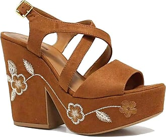 Zariff Sandália Zariff Shoes Plataforma Flores