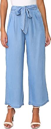 Vero Moda Calça Jeans Vero Moda Pantacourt Amarração Azul