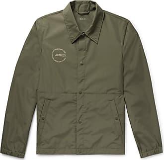 Helmut Lang Logo-print Recycled Shell Jacket - Army green