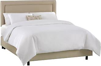 Skyline Furniture Border Velvet Upholstered Bed Velvet-Aubergine Purple, Size: Queen - 652BED-Q-VELVT-AUBRG