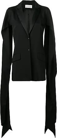 Esteban Cortazar draped slit sleeve blazer - Preto