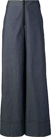 Ultra Chic chambray palazzo pants - Blue