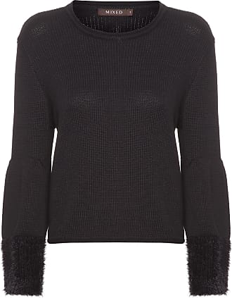 Mixed BLUSA FEMININA TRICOT CROPPED BLACK - PRETO