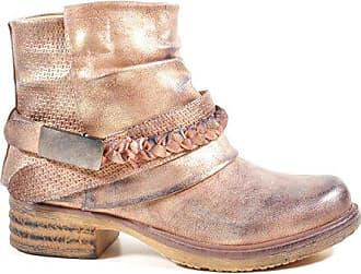 bae1fe65fd62ff King Of Shoes Damen Stiefeletten Biker Boots Nieten Schnallen Knöchelhohe  Stiefel Leder-Optik QBZ (