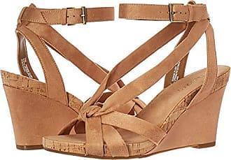 Aerosoles Womens Fashion Plush Wedge Sandal - Open Toe Strap Platform Heel Shoe with Memory Foam Footbed