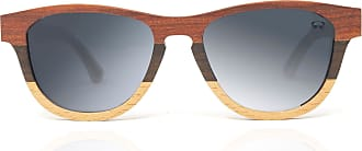 Fresh for Pandas Triangle small sunglasses wooden frame