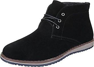 Ital-Design Stiefeletten Herren Schuhe Desert Boots Moderne Schnürsenkel  Boots Schwarz, Gr 43, 1ed72ad419