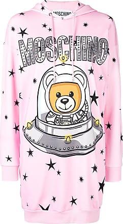 Moschino Space Teddie hoodie dress - Pink