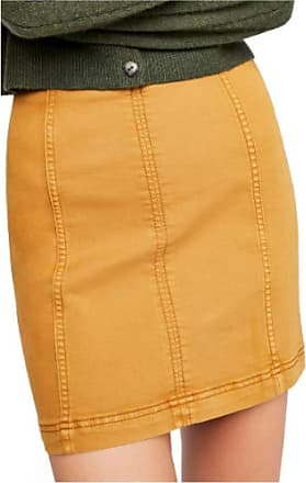 Free People Womens Gold Mini A-Line Skirt Juniors Size: 4