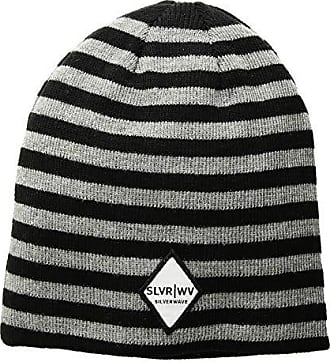 05e5a2ce87ddb5 San Diego Hat Company SLW3563 Striped Knit Cap with Patch (Grey) Caps