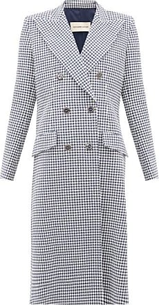 Alexandre Vauthier Double-breasted Houndstooth Cotton-blend Coat - Womens - Navy White
