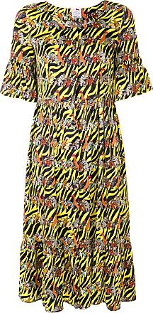 Ultra Chic animals print shirt dress - Yellow